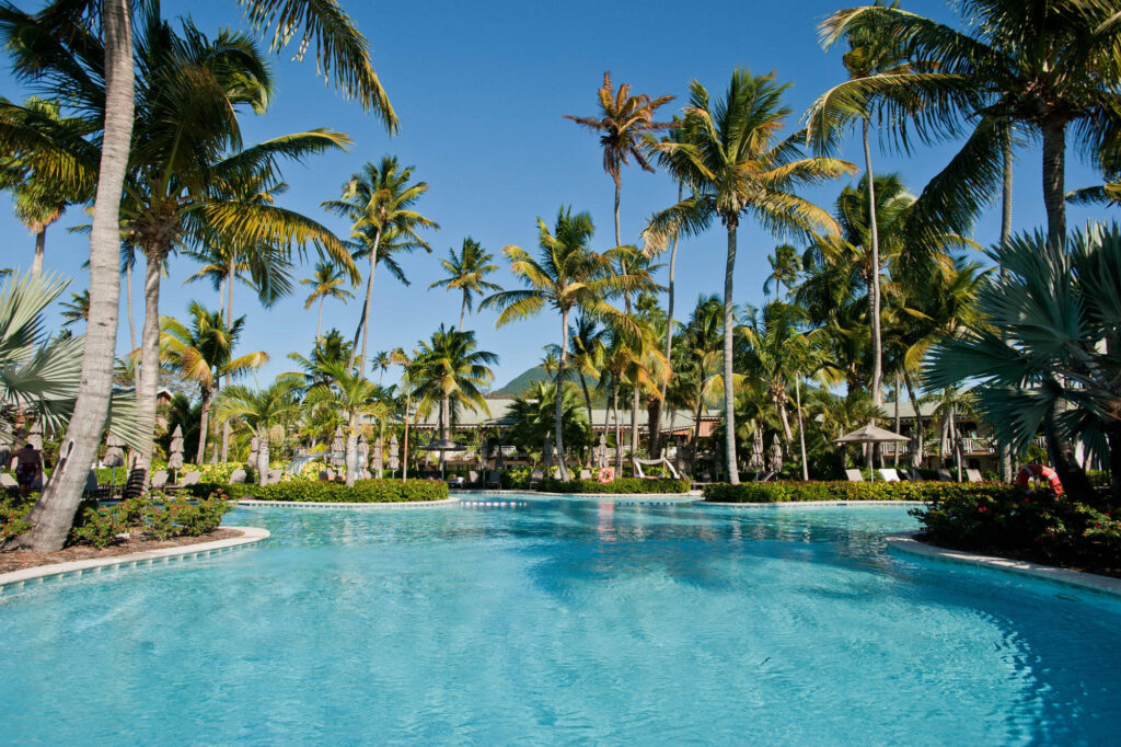 The Ocean Pool at the Four Seasons Resort Nevis