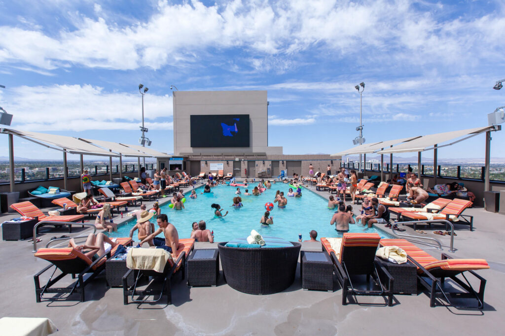 The Radius Pool at the Stratosphere Hotel and Casino