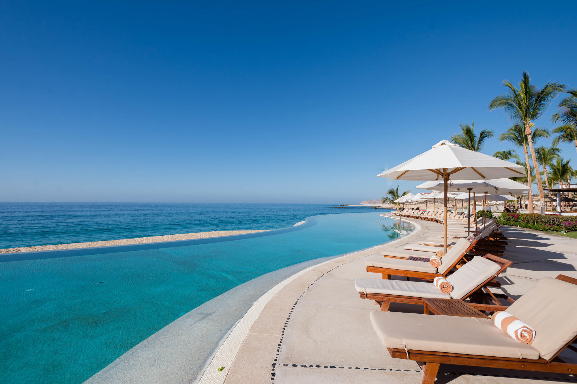 One of two stunning beachfront infinity pools at Marquis Los Cabos