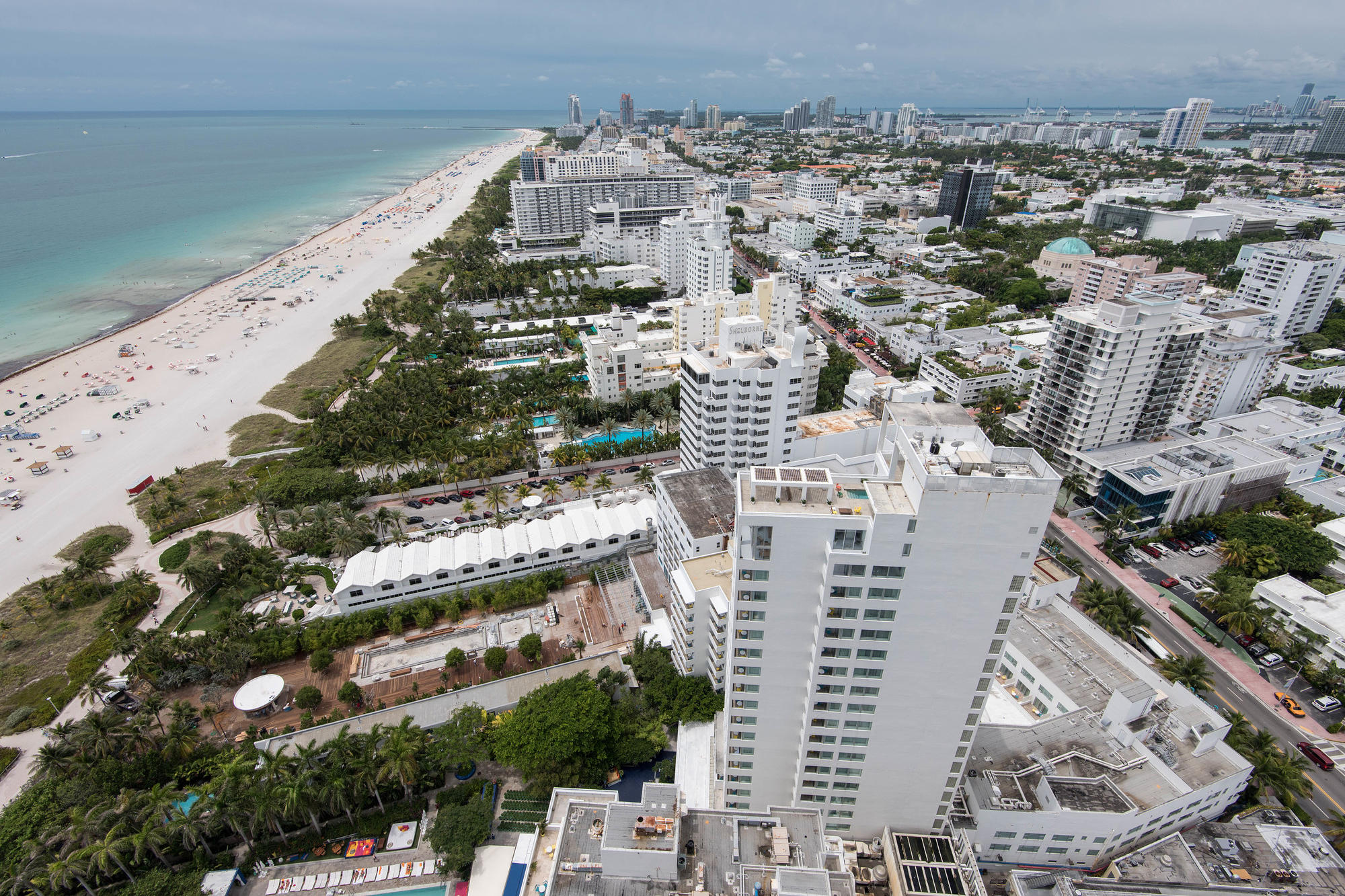 View of South Beach from The Setai Miami Beach