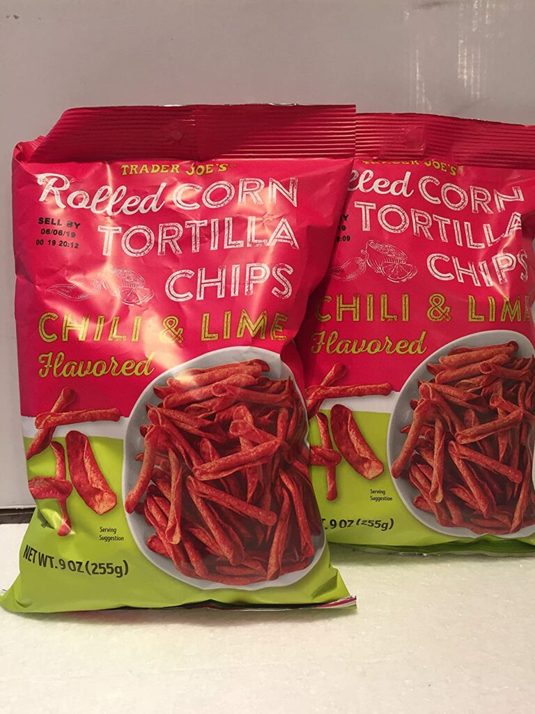 trader joe's Chili and Lime Flavored Rolled Corn Tortilla Chips