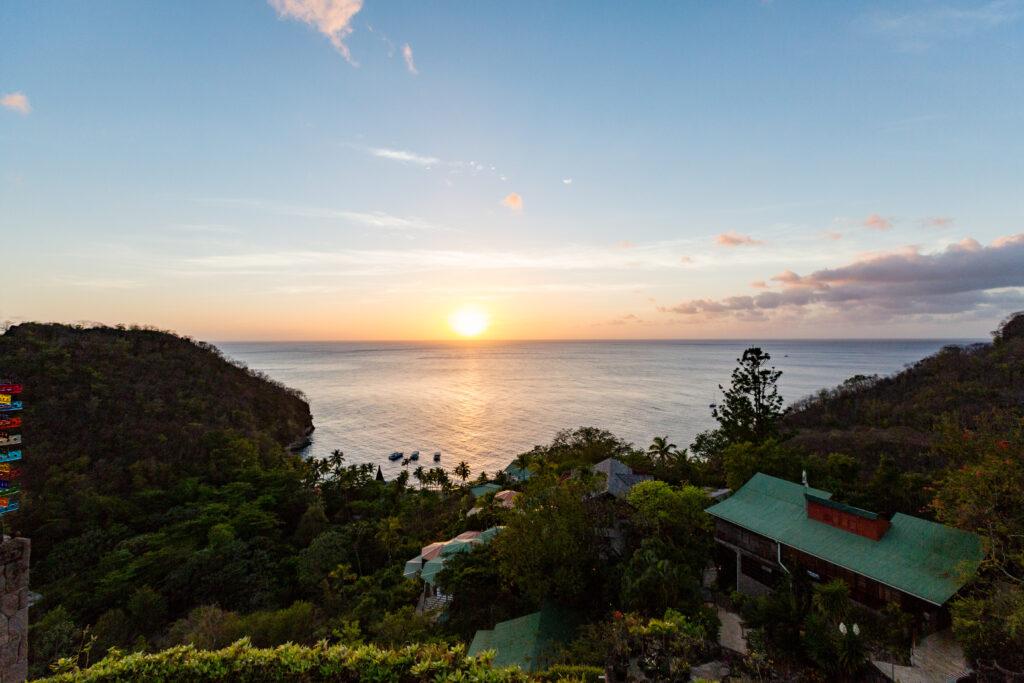 Sunset at Jade Mountain Resort