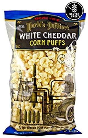trader joe's World's Puffiest White Cheddar Corn Puffs