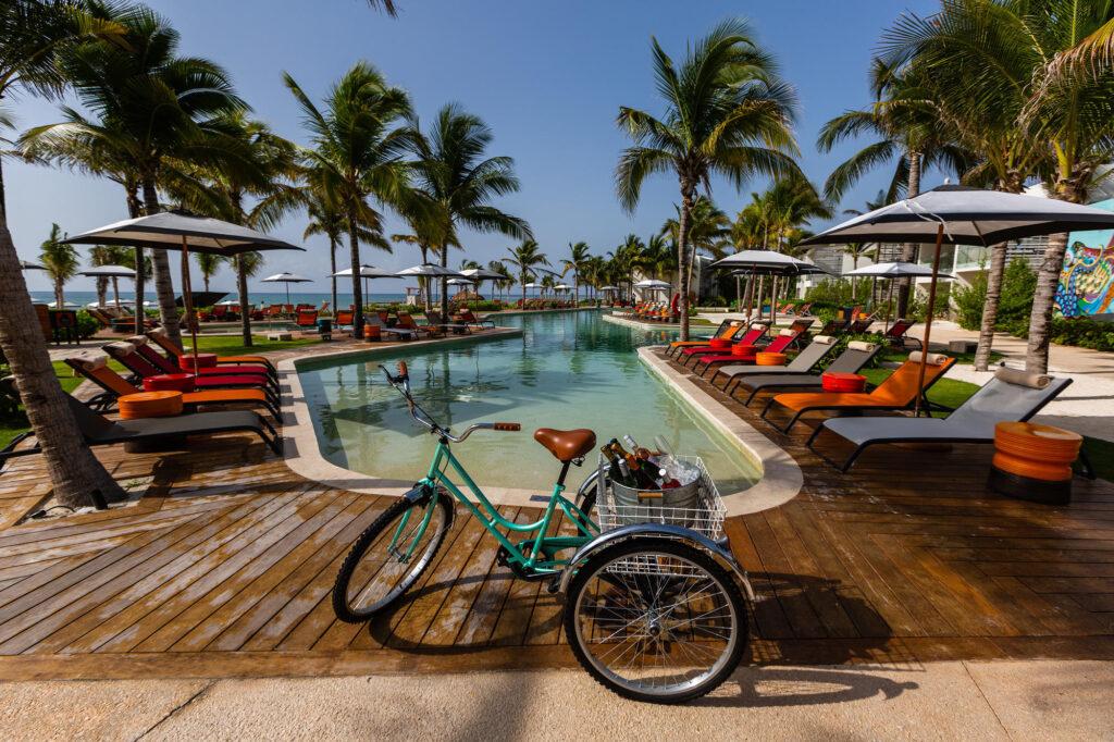 The Beachside Pool at the Andaz Mayakoba Resort Riviera Maya