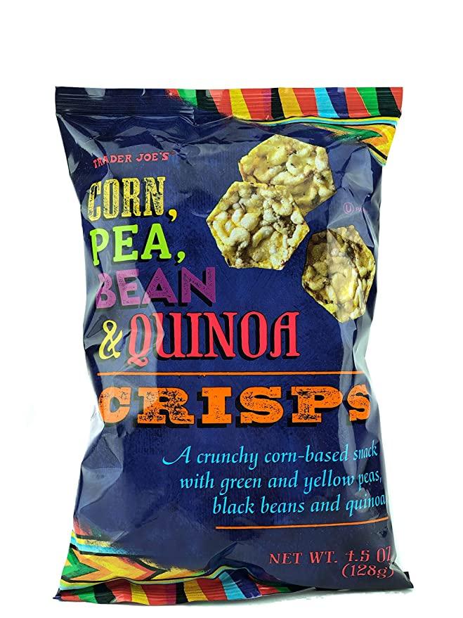 trader joe's corn pea bean and quinoa crisps