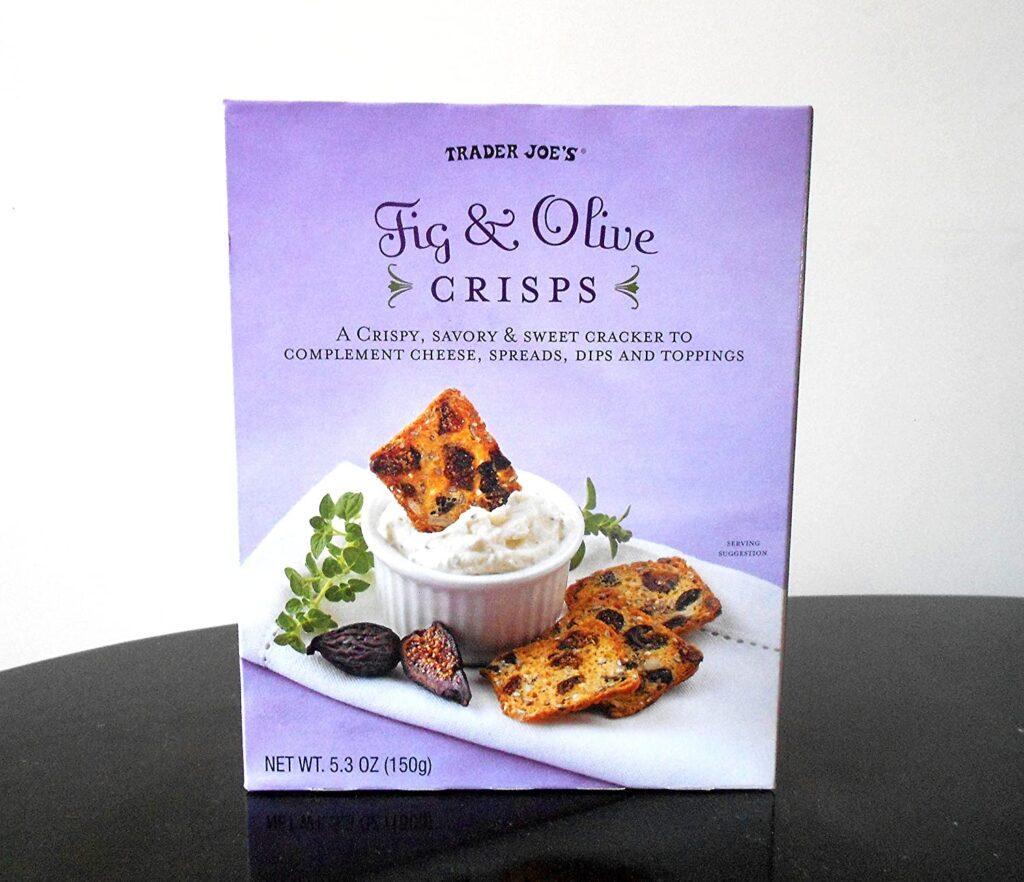 trader joe's fig and olive crisps