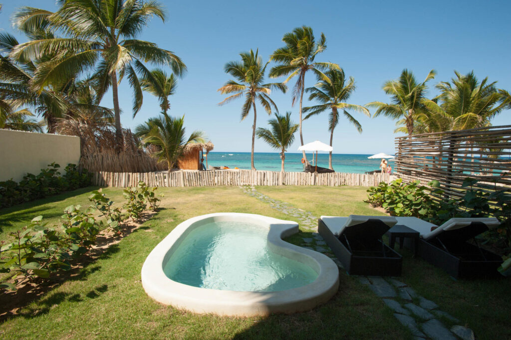 The Junior Suite Oceanfront Deluxe at Zoetry Agua Punta Cana