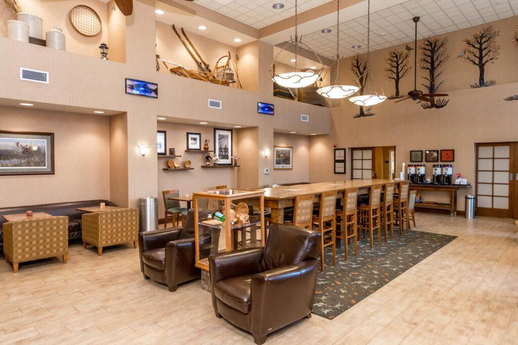Lobby at the Hampton Inn & Suites Fairbanks