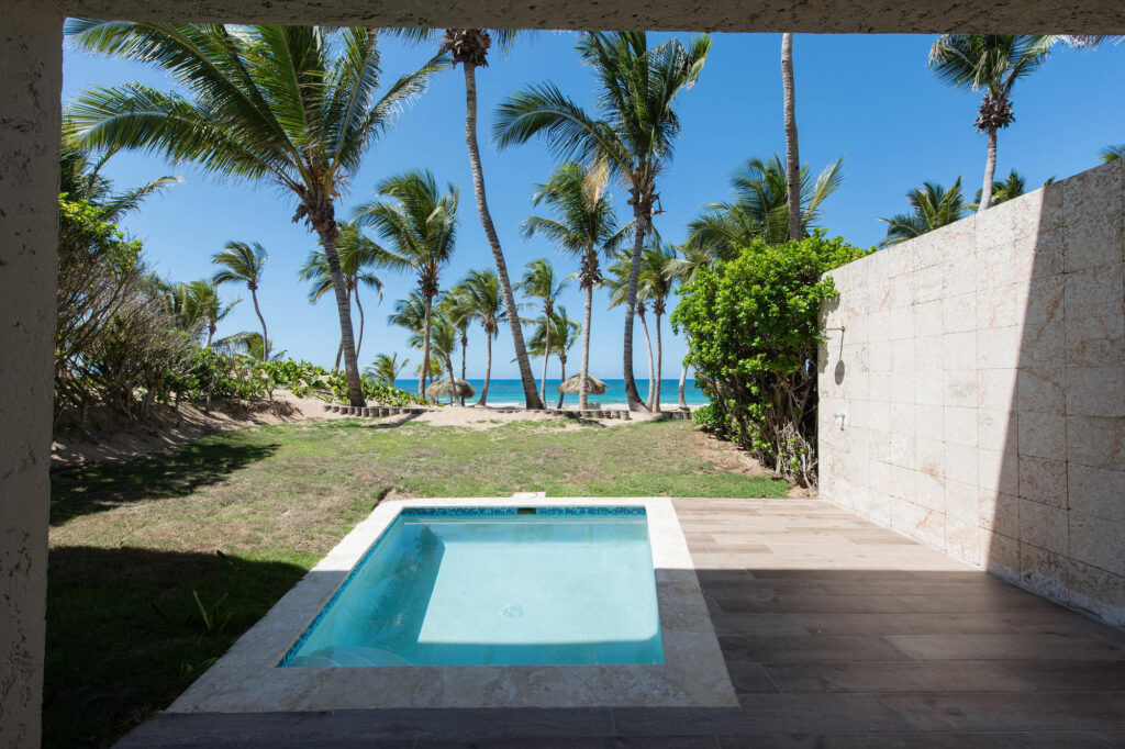 The Luxury Junior Suite Ocean Front With Private Pool at the Le Sivory Punta Cana By PortBlue Boutique