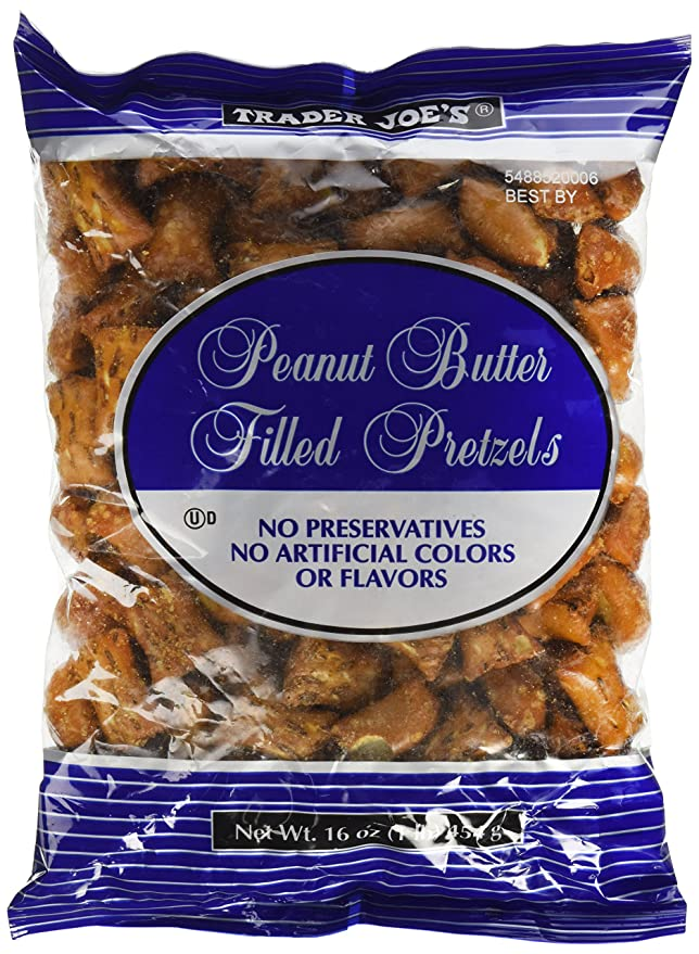 Trader Joe's peanut butter filled pretzels