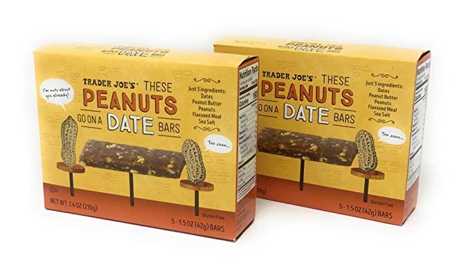 trader joe's peanuts go on a date bars