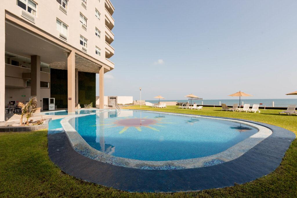 The Pool at the Hilton Inn Boca del Rio Veracruz