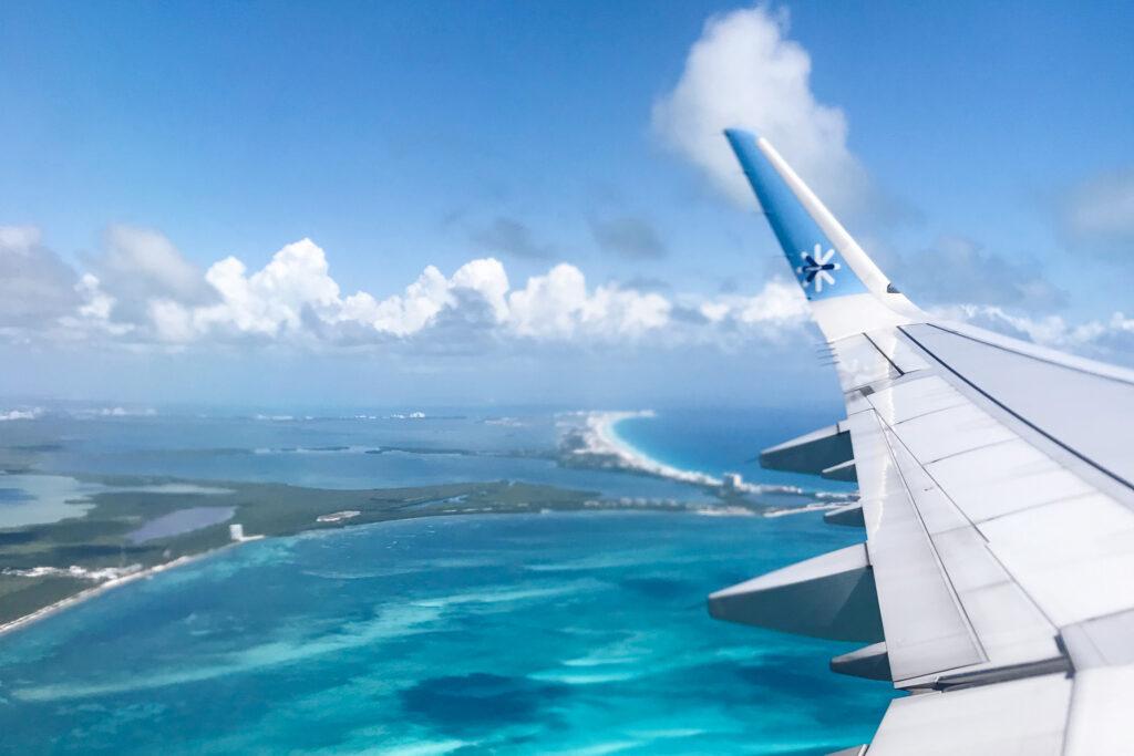 View over the Caribbean Sea, Cancún, Mexico