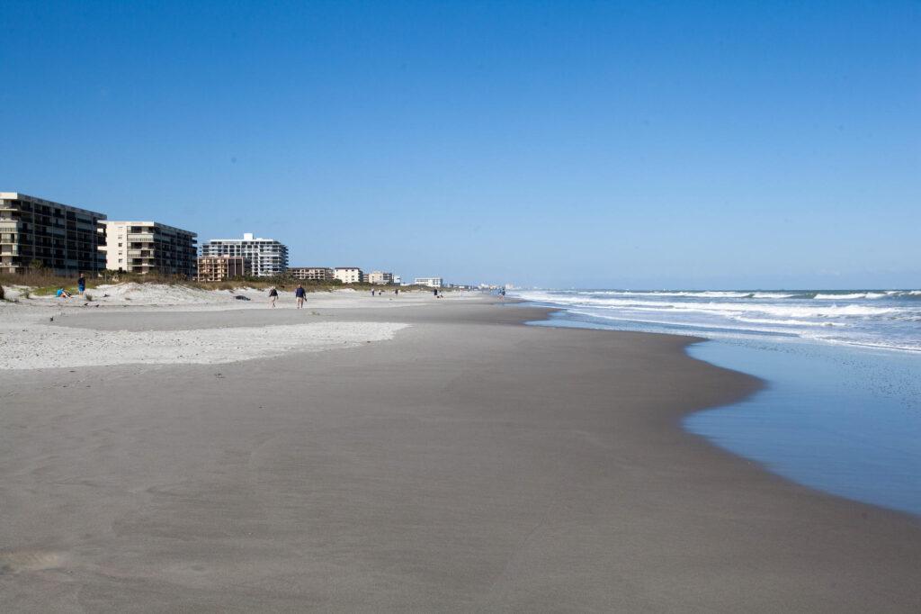 Beach at the Hilton Cocoa Beach Oceanfront