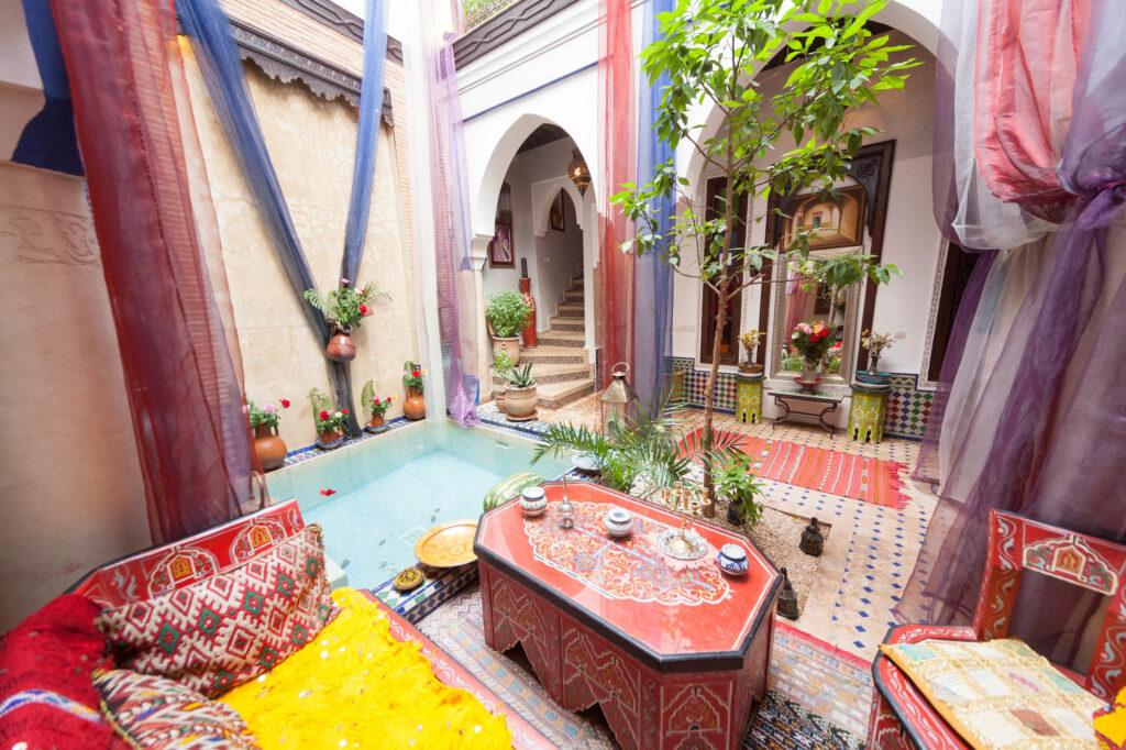 Courtyard at the Riad Tamarrakecht