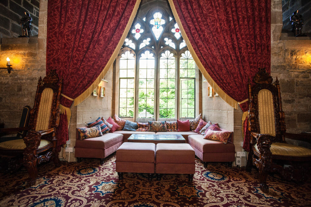 Drawing Room at the Langley Castle Hotel
