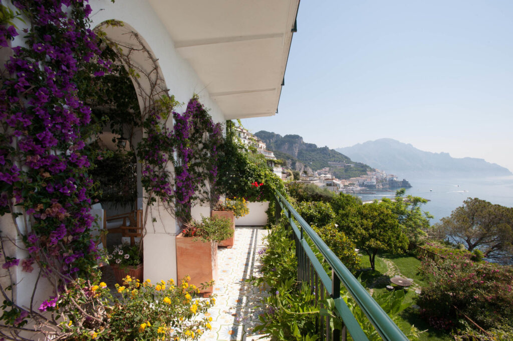 Garden at the Santa Caterina Hotel