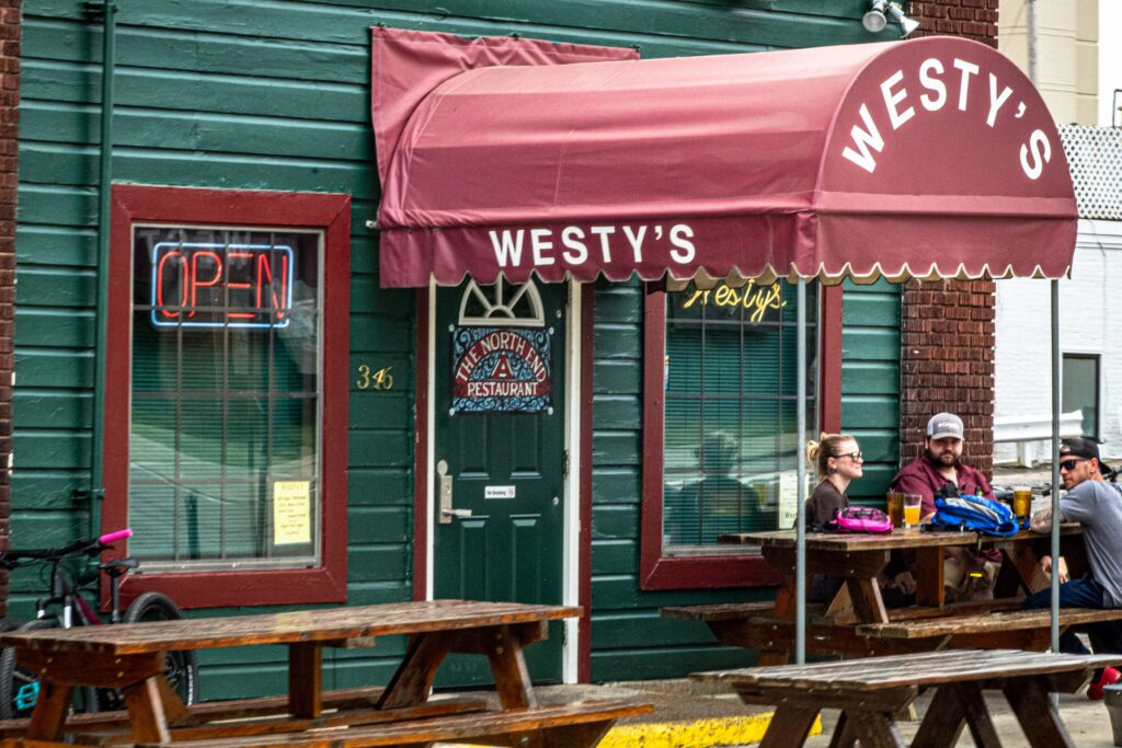 Westy's, a restaurant on the north end of downtown Memphis, TN, along the Main Street Trolley line.