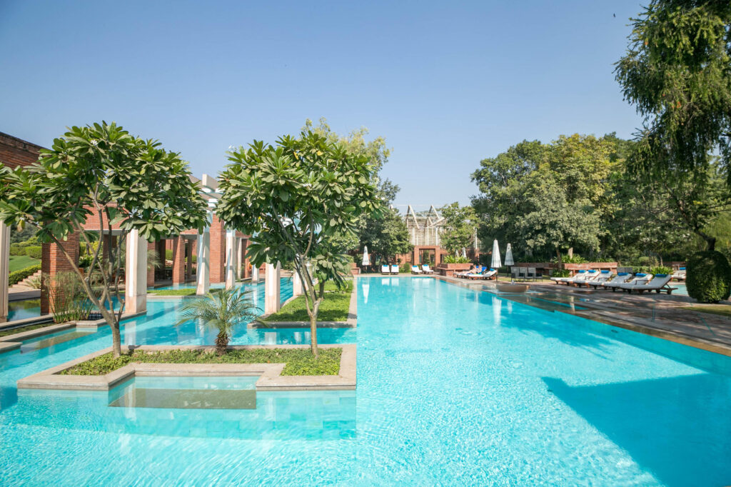 The Pool at the ITC Mughal, Agra