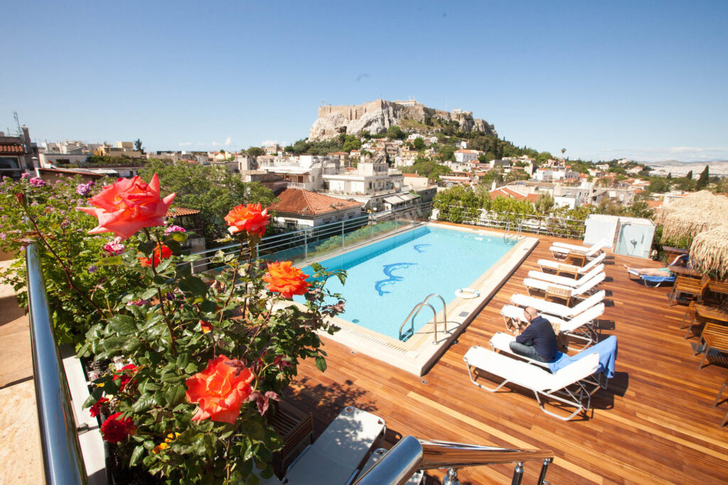 The Roof Garden Pool at the Electra Palace Hotel Athens