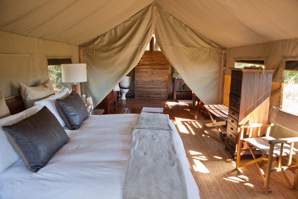 The Safari Tent at the andBeyond Nxabega Okavango Tented Camp