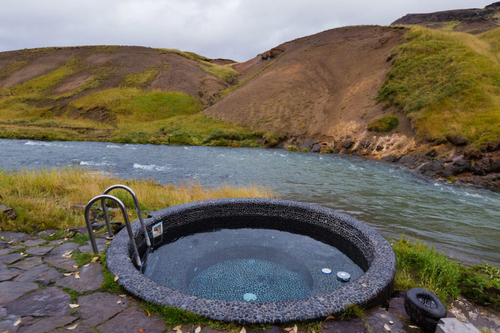 Hot tub at Frost and Fire Hotel