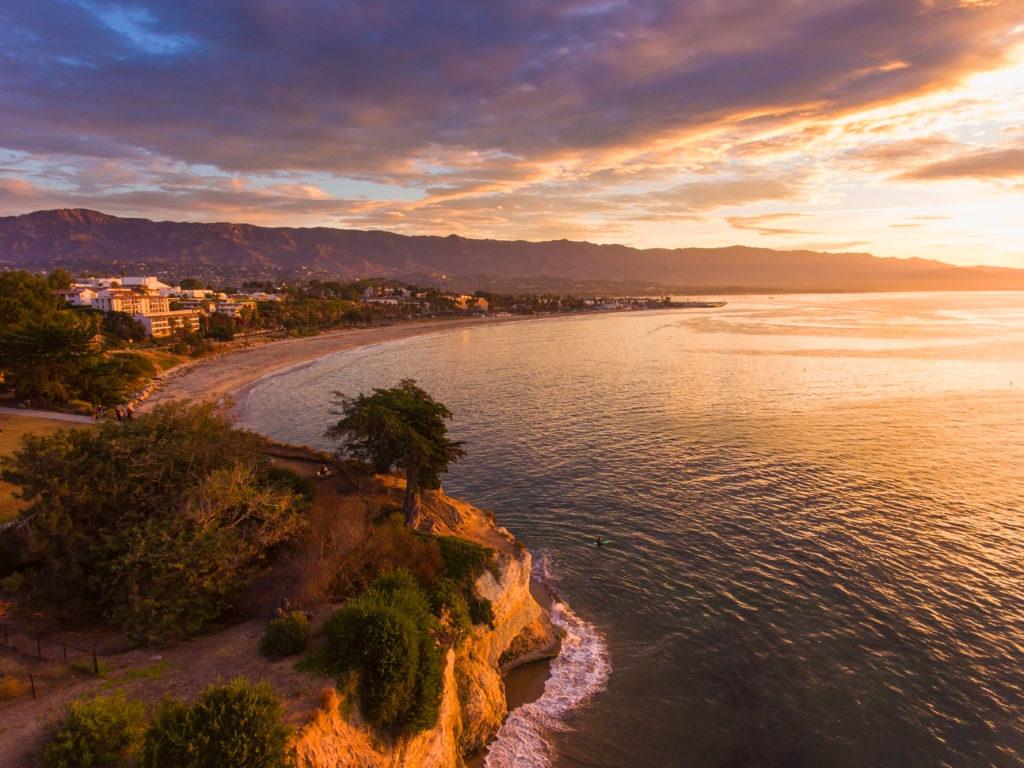 Leadbetter Point at sunrise, Santa Barbara, California