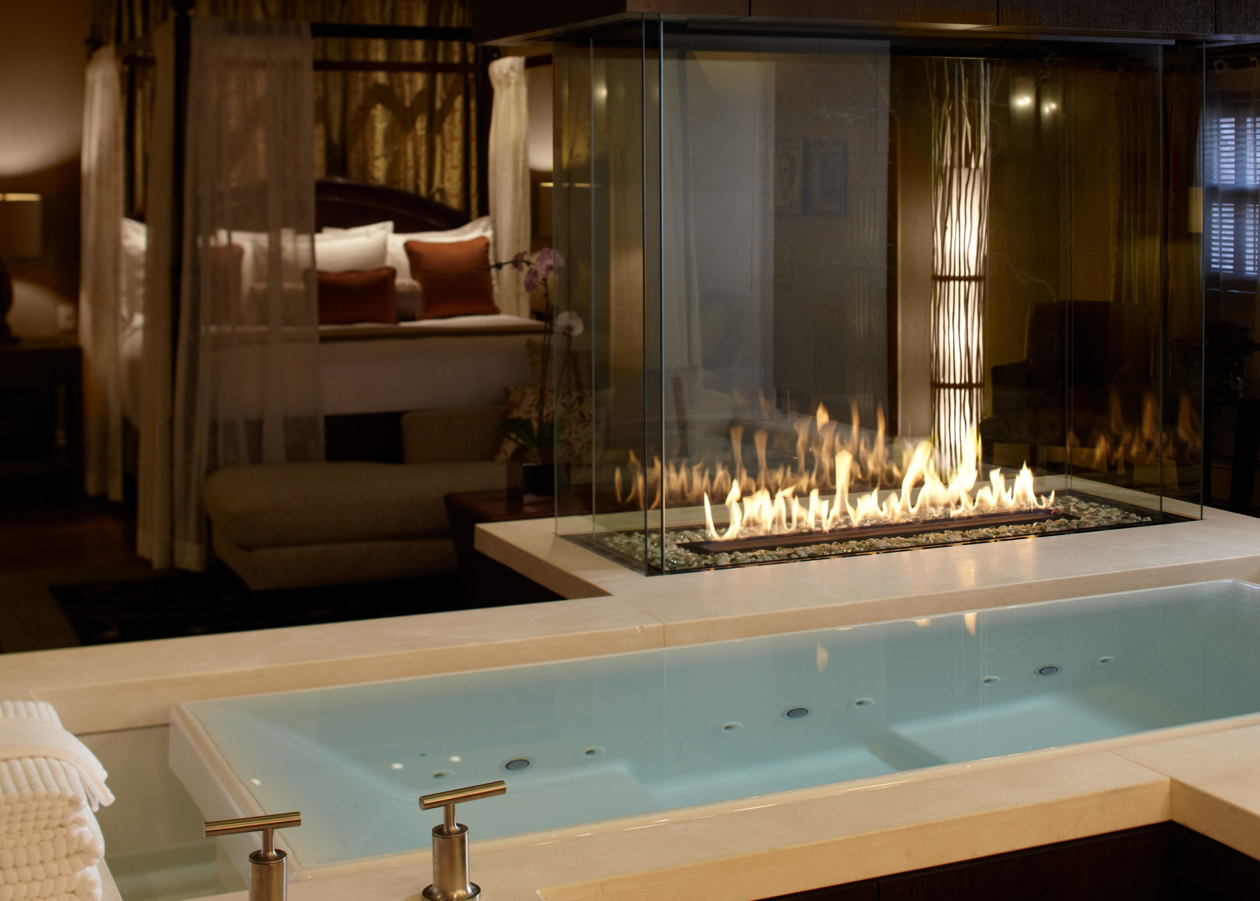 Bathroom at the American Club Resort