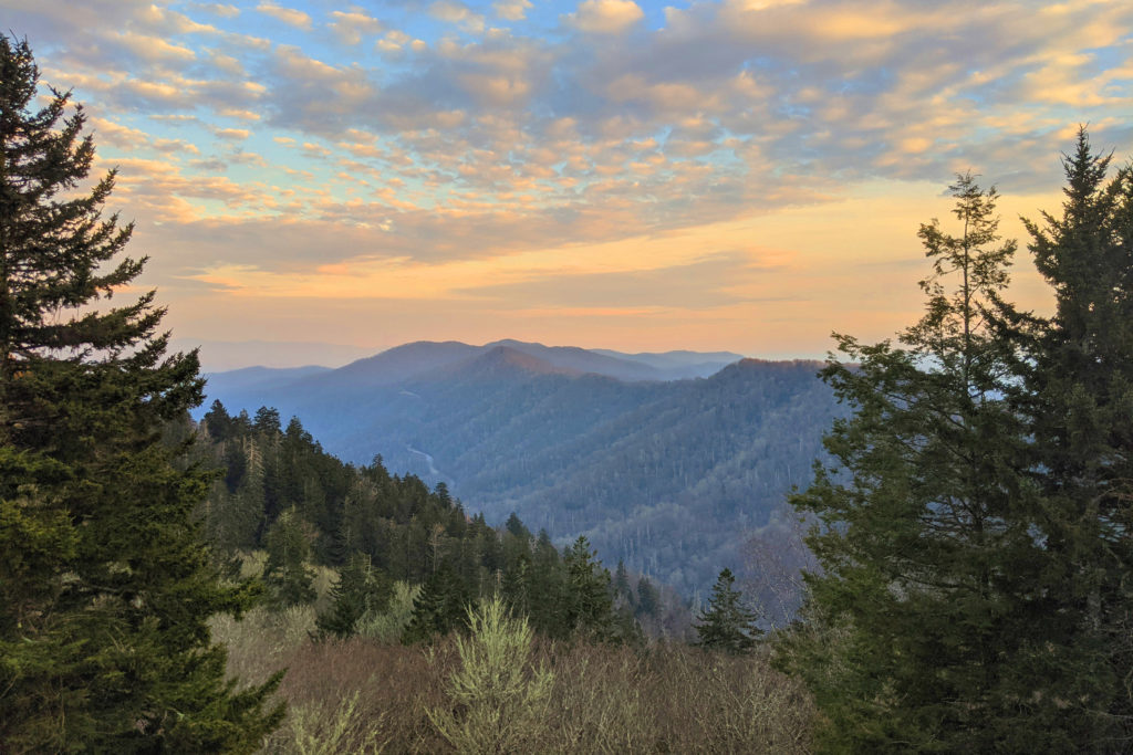 View of the Great Smokey Mountains