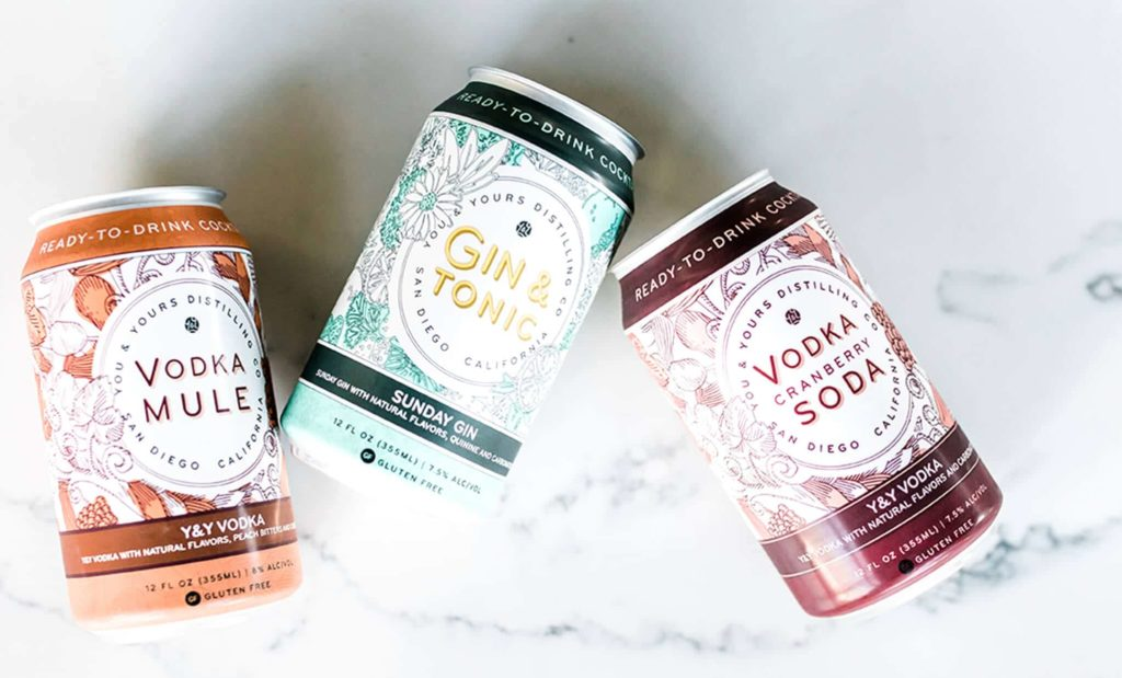 You & Yours brand canned cocktails