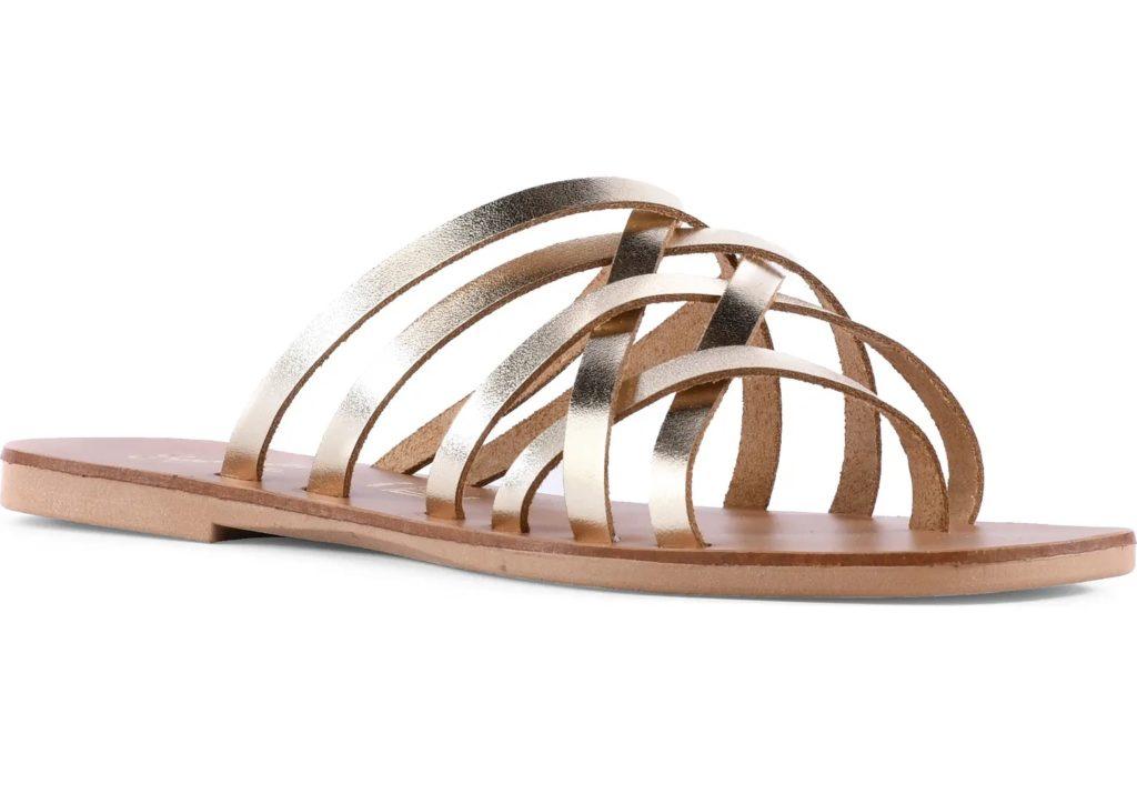 Nice Try Slide Sandal from Seychelles in gold