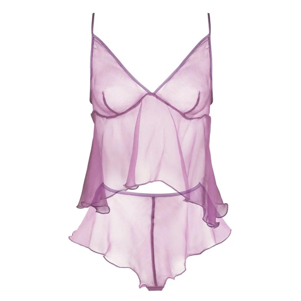 Folie Silk Sleepwear Set in Lilac
