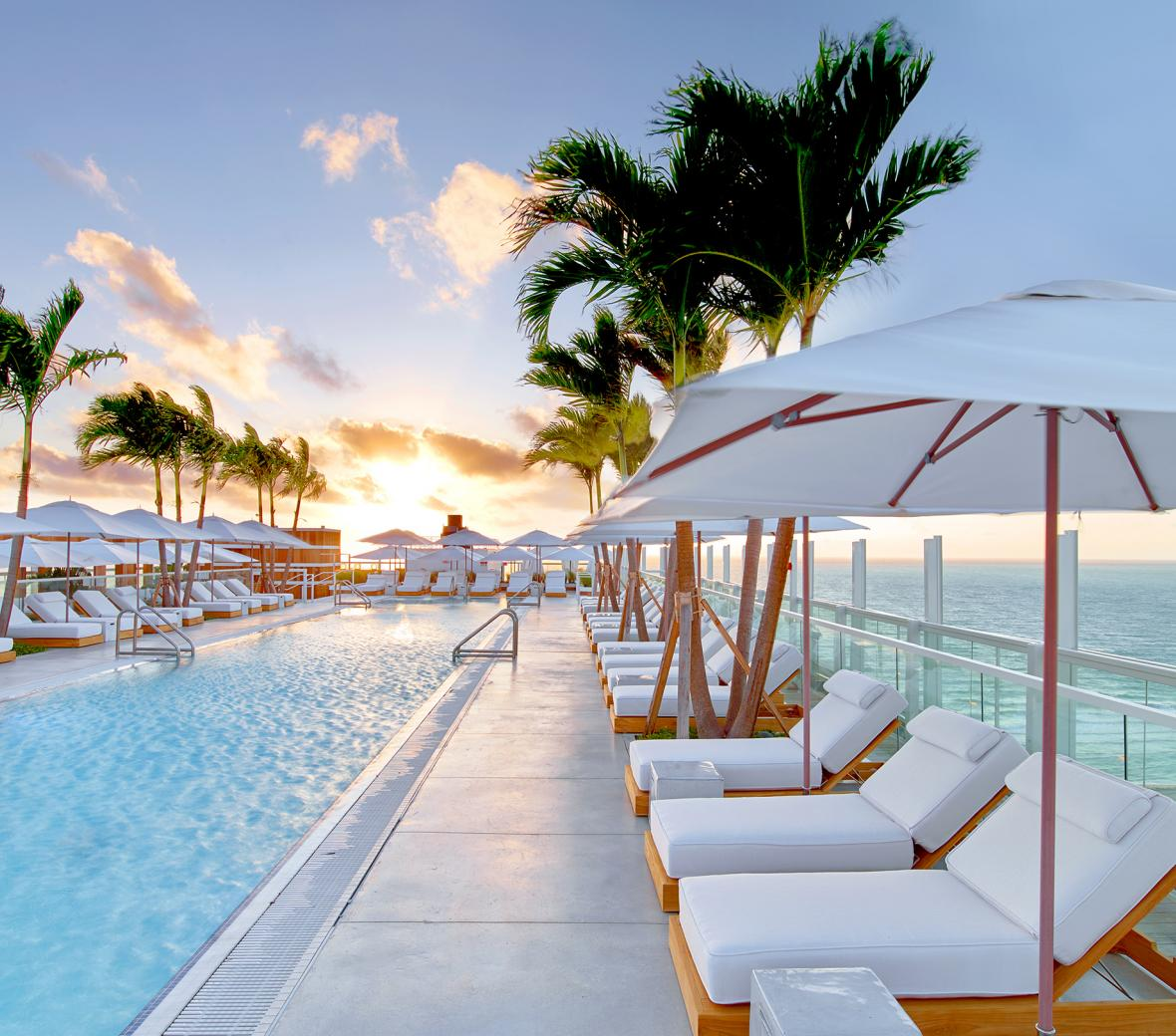 Rooftop pool at 1 Hotel South Miami Beach