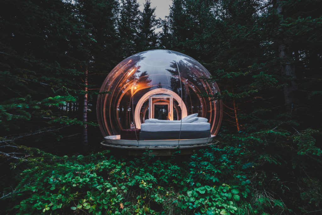Bubble glamping room at the Bubble Hotel