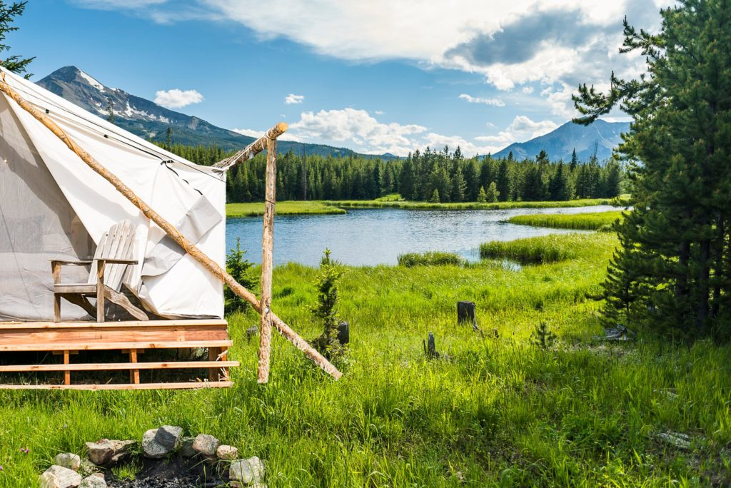 Glamping tent at Collective Yellowstone
